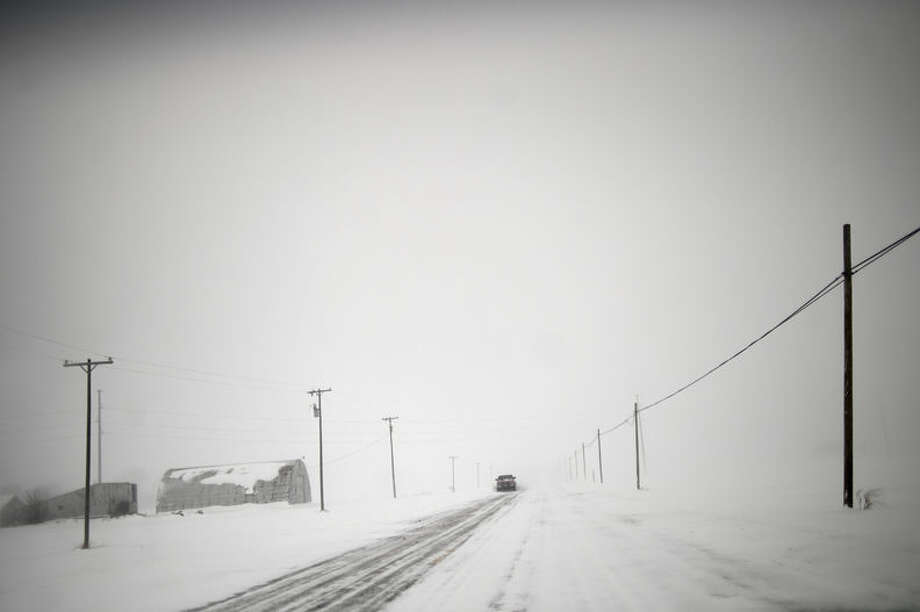 A January 2014 scene from the Midland-Isabella County line area. Photo: Daily News File Photo