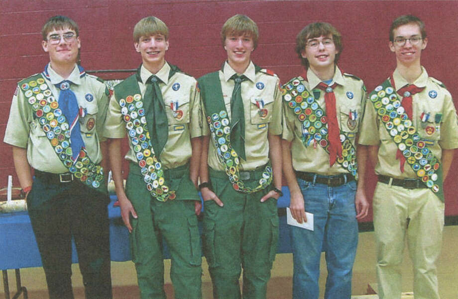 Pictured from left are Travis Sysak, Carlton Ross, Christopher Ross, Robert HIll and Christian Clark. Photo: Photo Provided