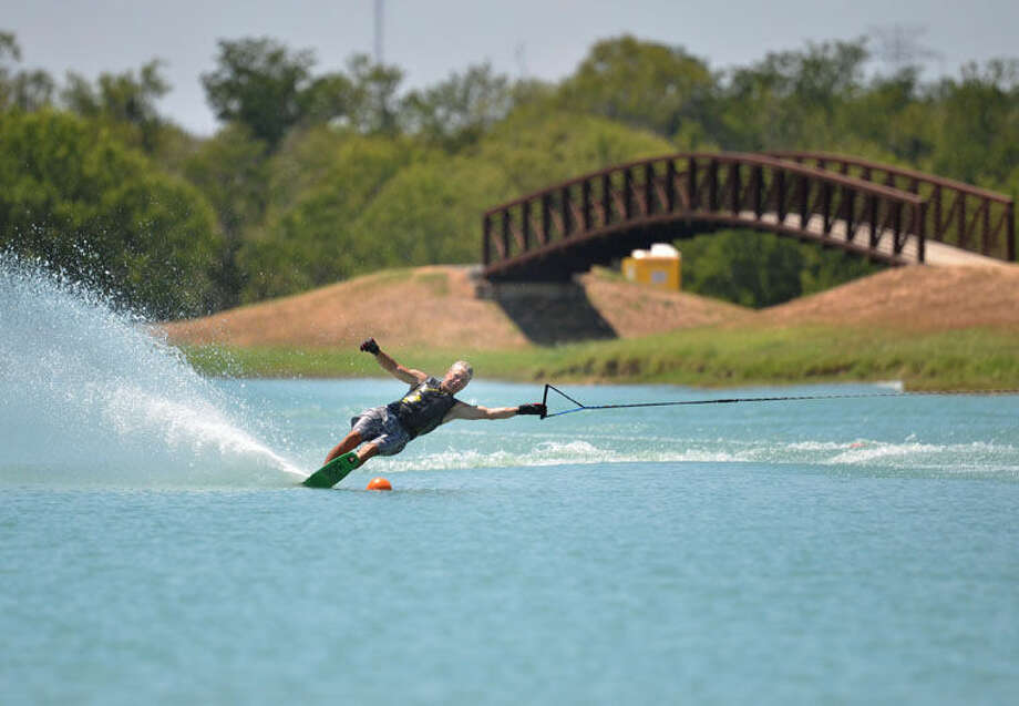 Midlander Dan Wamhoff won the Mens 6 division in slalom during the recent Water Ski National Championships. Photo: Travis Sellers