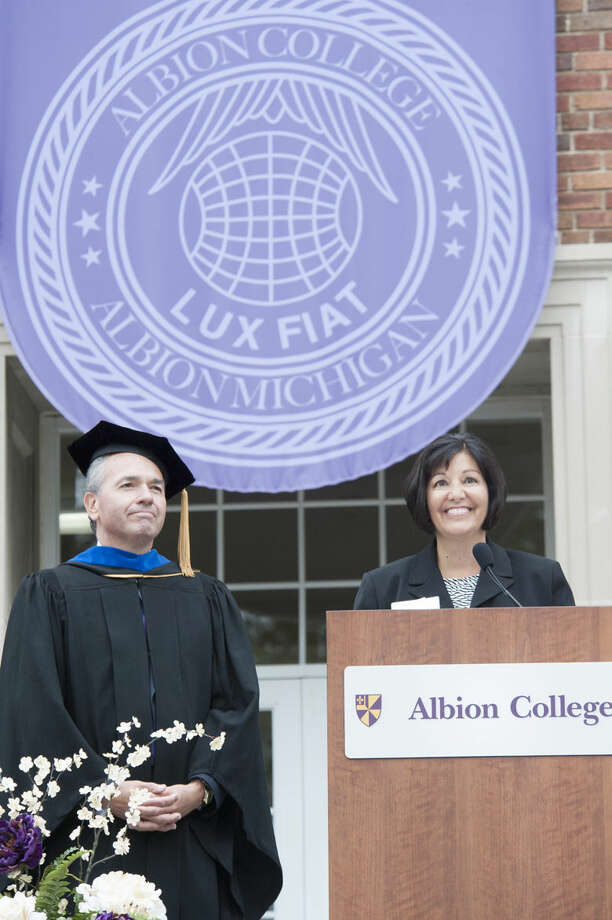 Don and Angela at Albion College.