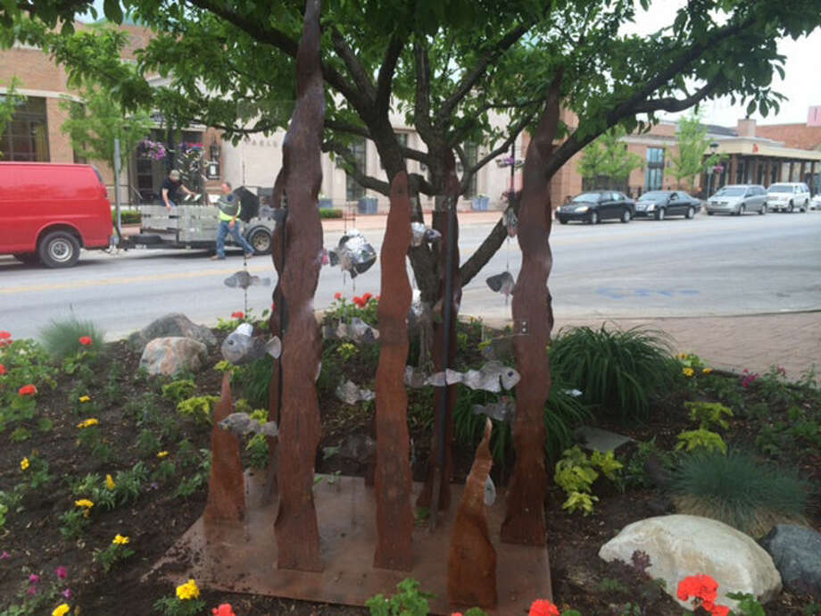 This downtown Midland summer sculpture is titled Among the Weeds. Photo: Photo Provided