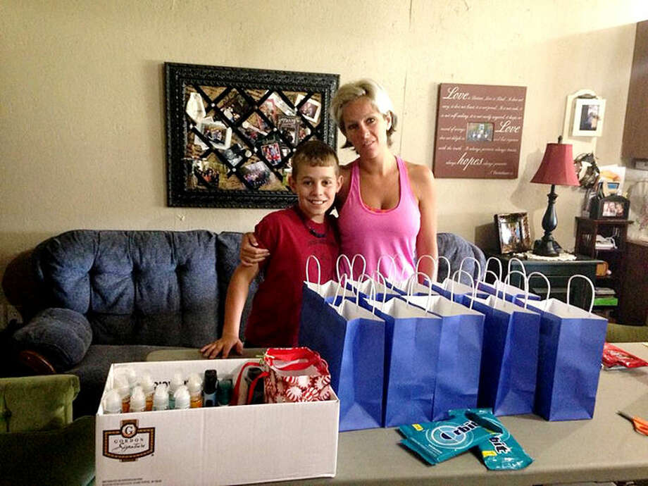 Debra Bovee, who watched her grandchildren during the summer months, wanted to provide them with a project, something meaningful they could do together that would channel their energy and provide a blessing to others. So they learned about the gift of giving. Photo: Photo Provided