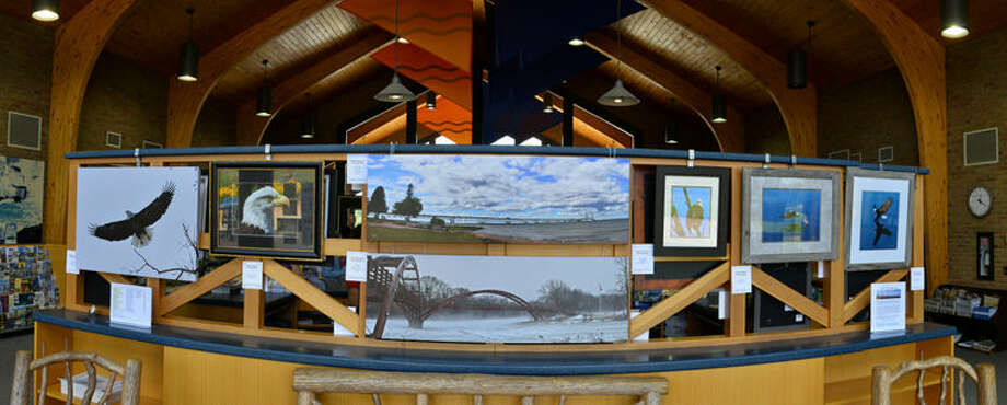 Midland's Tridge can be seen in this grouping of photos taken by Robert Spears and on display at the MDOT Welcome Center off U.S. 127 just north of Clare.