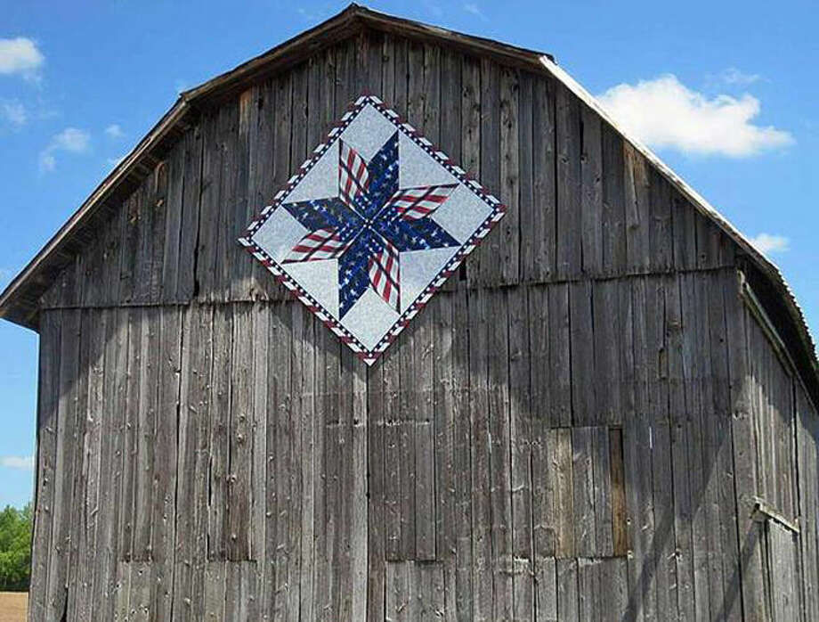 The quilt blocks are popping up on buildings all around Clare County, including on this barn. Photo: Photo From Clare County Arts Council Website