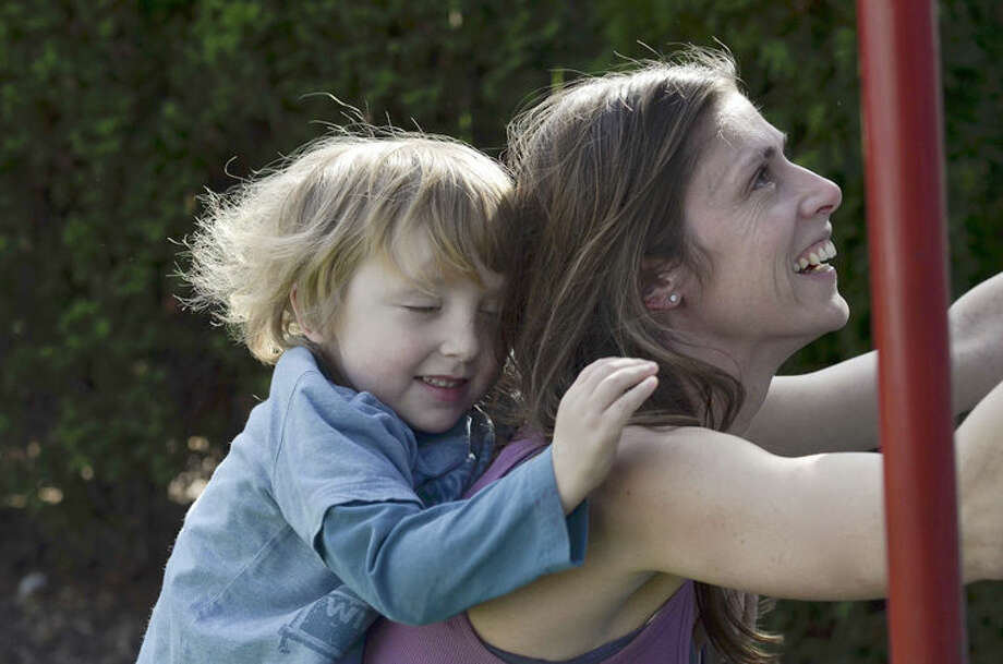 Abigail Waller with her son, Charlie, who inspired the Courage to be Kind social campaign. Waller has used social media as a source of  solace, education and hope following Charlie's death. Photo: Photo Provided