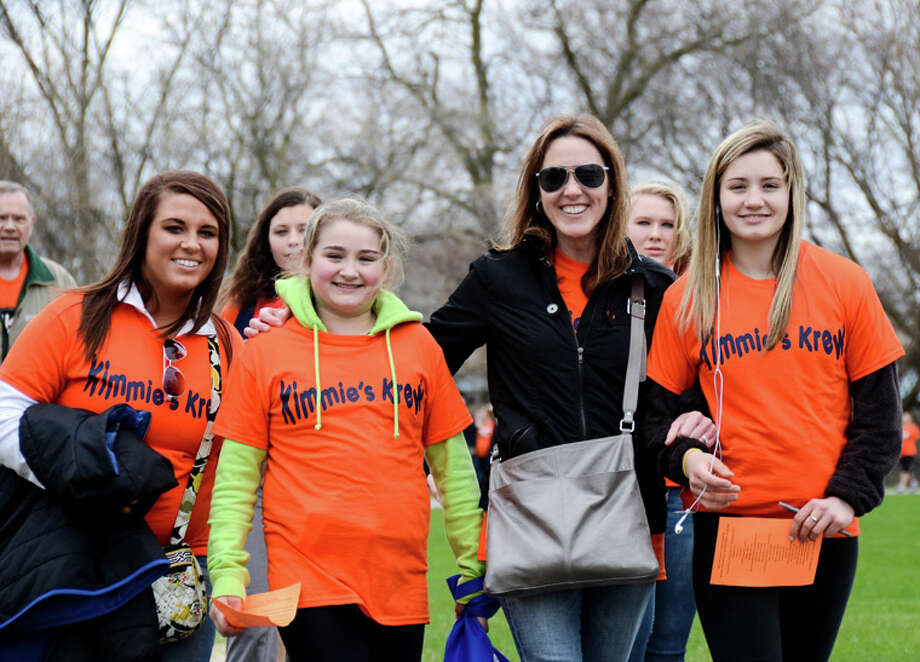One of the teams participating in a past Walk MS event in Midland is shown in this file photo.