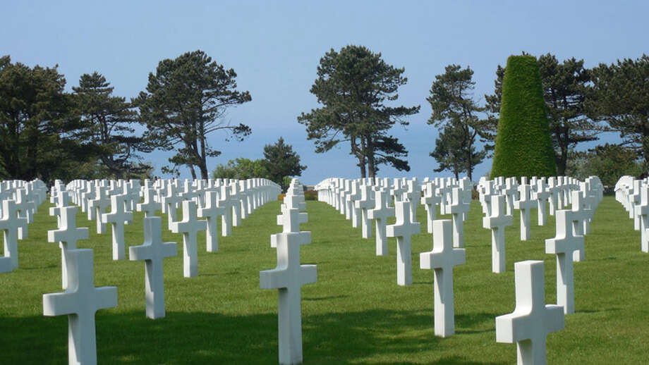 Grave crosses of American service members at the American Cemetary and Memorial, Normandy, France Photo: Jacob Van Houten   For The Daily News