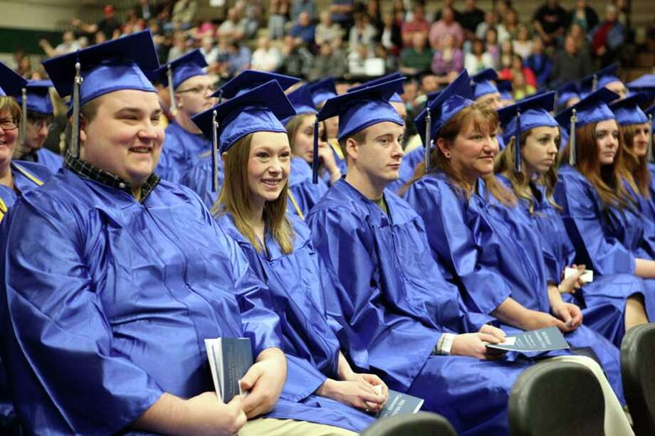 Graduates are seated during one of Mid Michigan Community College's commencement ceremonies. Photo: Photo Provided