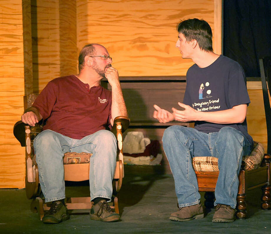 """Alan Hawley and Allen Goodwin perform in the play, """"On Golden Pond."""" Photo: Photo Provided"""