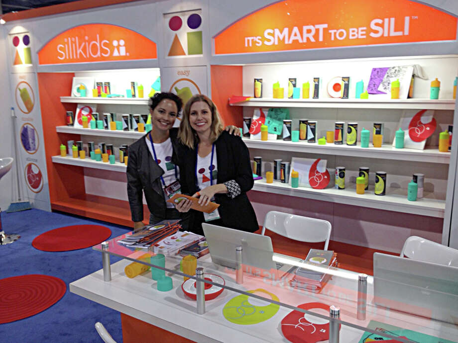 Giuliana Schwab, left, and Stacey Feeley, are co-founders of Silikids, a Traverse City company that designs and manufactures safe, modern silicone accessories for kids. The Arnold Center is providing product assembly, warehousing and shipping for Silikids. Photo: Photo Provided