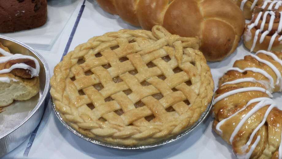 """The braid-and-bow lattice of Maria Buko's pineapple pie met awe from supporters and judges alike. The 18-year-old Saginaw Career Complex graduate placed first nationally and is a two-time state champion for commercial baking. """"The head judge asked her if he could take her pie back with him,"""" coach Julie Ivan said. Photo: (Photo Credit: Julie Ivan)"""