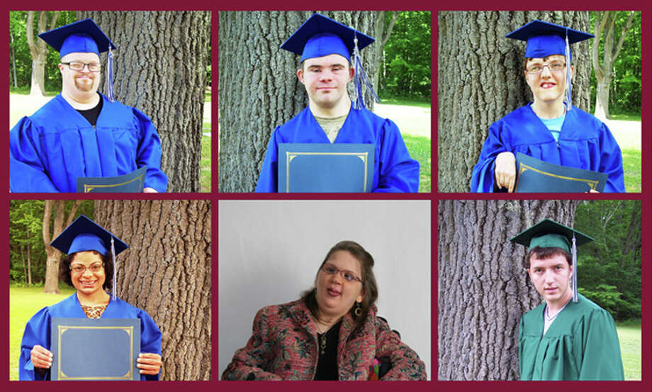 Photo providedThe Clare-Gladwin Area School class of 2014 consisted of, top row, from left, Andrew Ogg, Dustin Newman, and Jessica Husted; and bottom row, from left, Nicole Blaga, Alyssa Dumont and Vincient Lago. Not pictured: Wayne Hochstetler.