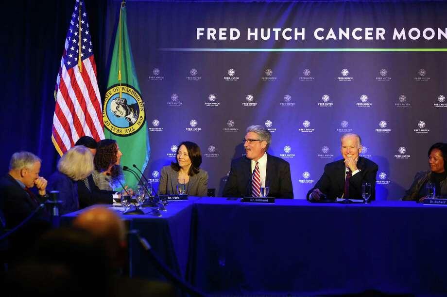 Vice President Joe Biden visited Seattle's Fred Hutchinson Cancer Research Center on March 21, 2016. Photo: GENNA MARTIN, SEATTLEPI.COM / SEATTLEPI.COM