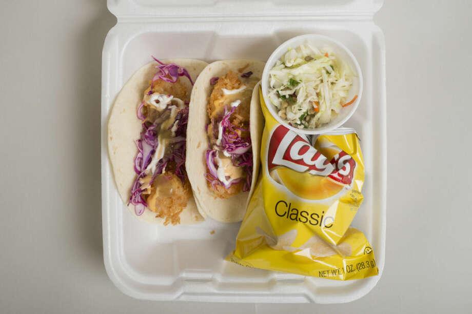The food purchased at Crispy Crab, Midland. Photo: NEIL BLAKE | Nblake@mdn.net