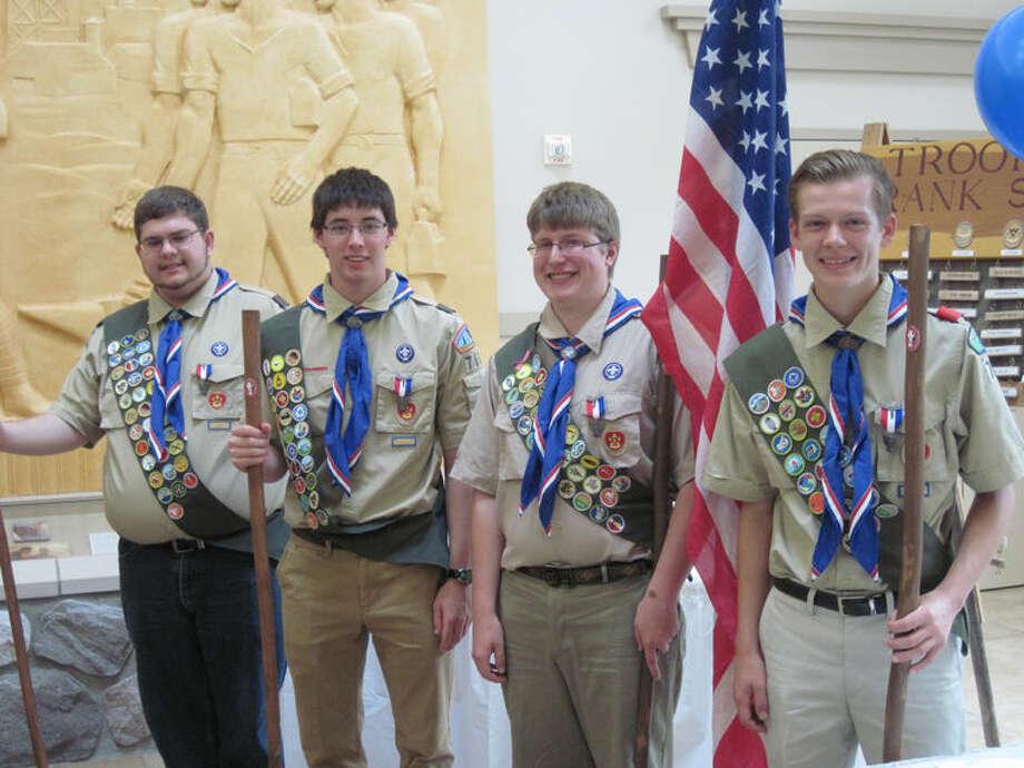 Pictured are, from left, Calvin Sigelko, Benjamin Brandstadt, Matthew Zabik, and Hunter Rutkowski. Photo: Photo Provided