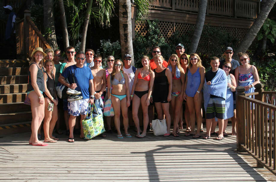The Midland families that went on the senior cruise trip together are shown in this picture. Photo: Photo Provided