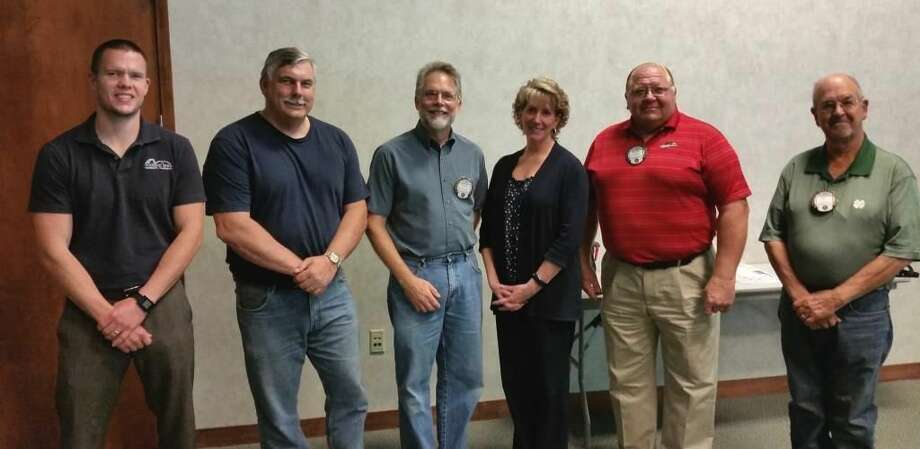 Pictured are some of the new members, from left, Ben Tierney, John Congelton, Chuck Gartner, Kathy Allen, Rusty Sullivan and Bill Kuehne. Photo: Photo Provided