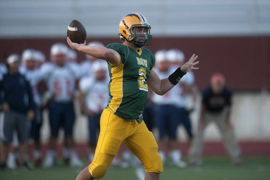 Dow High quarterback Bruce Mann will lead the offense in Friday's matchup against Midland High. Photo: Brittney Lohmiller | Midland Daily News