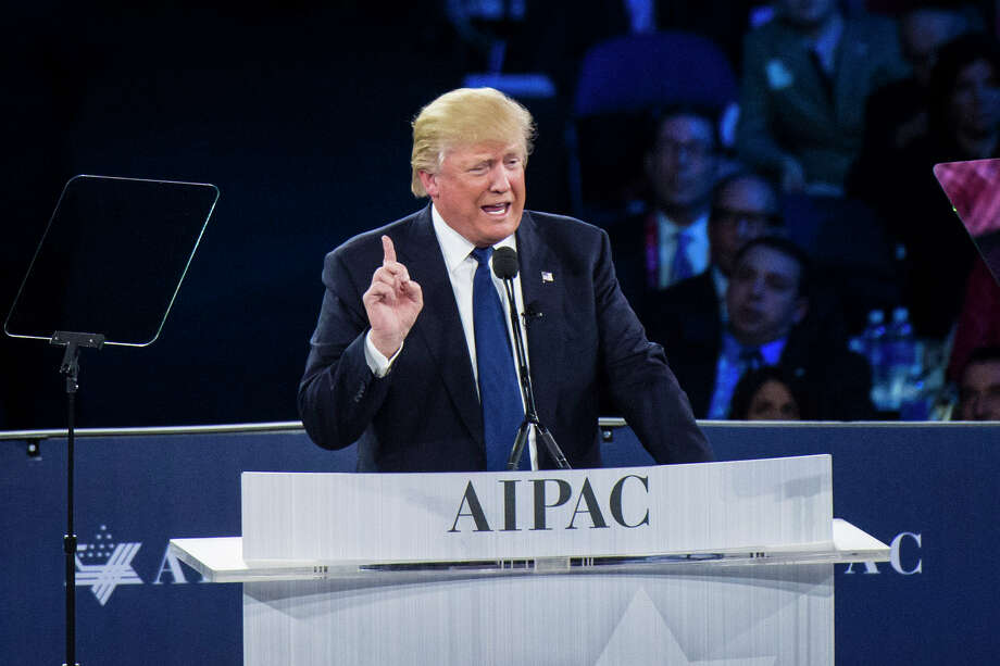 Donald Trump highlighted his daughter's conversion to Orthodox Judaism and made a promise to recognize Jerusalem as Israel's undivided capital. / The Washington Post