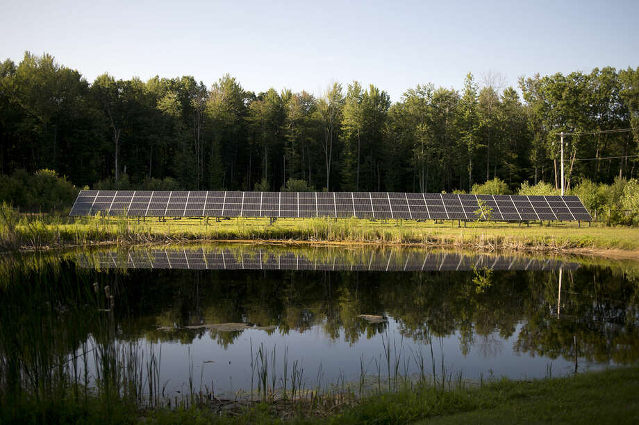 The Homer Solar Array is shown in Homer Township. Photo: Brittney Lohmiller | Blohmiller@mdn.net