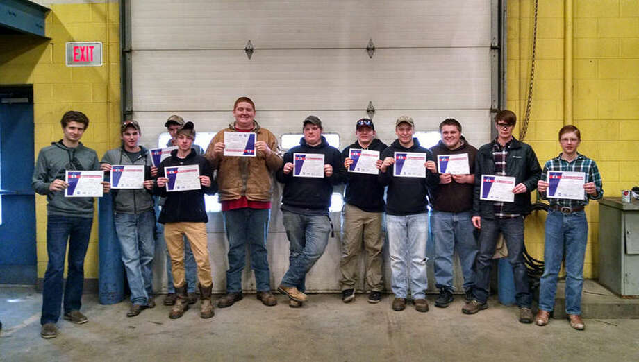 From left are Dylan Worden, Austin Currier, Ronnie Richardson, Carlos Zieroff, Sulley Cousineau, Josh Pate, Travis Krueger, David Sturgeon, Brandon Cergnul, Brandon Pahl and Aaron Pohl. Photo: Photo Provided