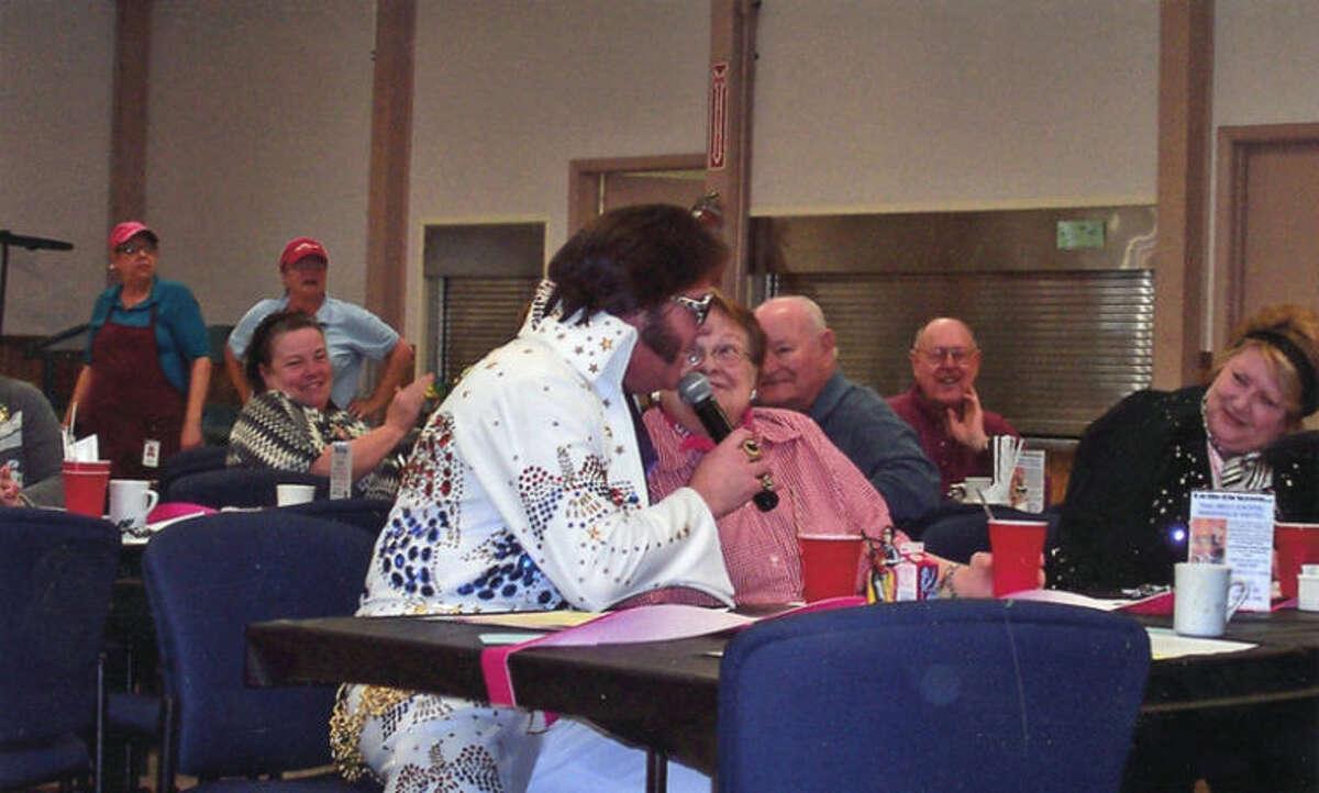 Photo providedBob Greif, an Elvis impersonator, entertains residents.