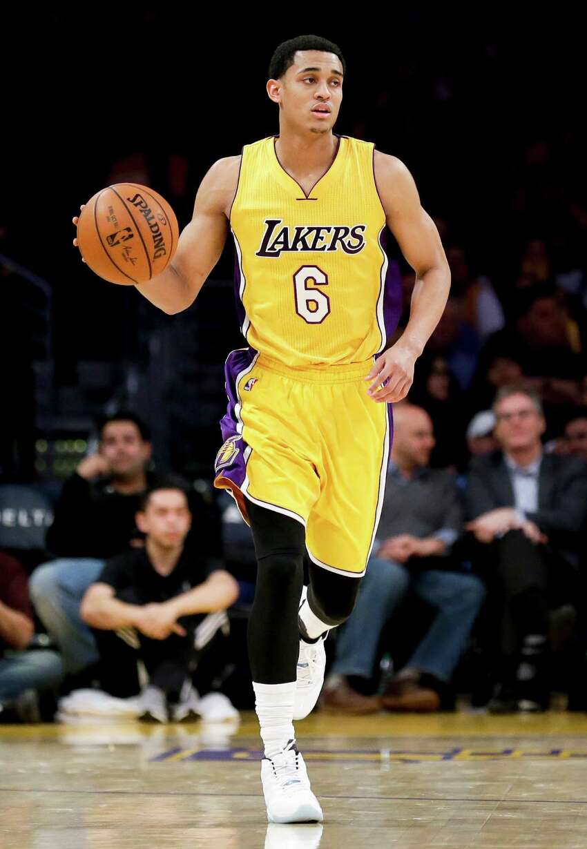 Los Angeles Lakers guard Jordan Clarkson of San Antonio is one of a handful of San Antonians who were rumored to be dating a celebrity.