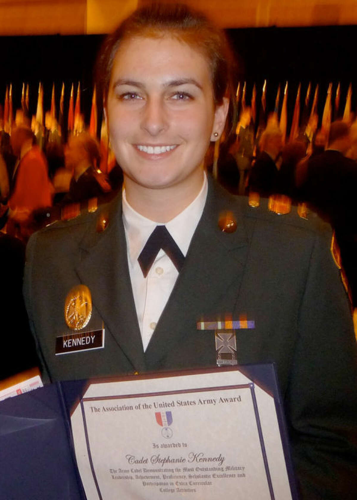 Midlander Stephanie Kennedy has been named a Distinguished Military Graduate for the class of 2013.
