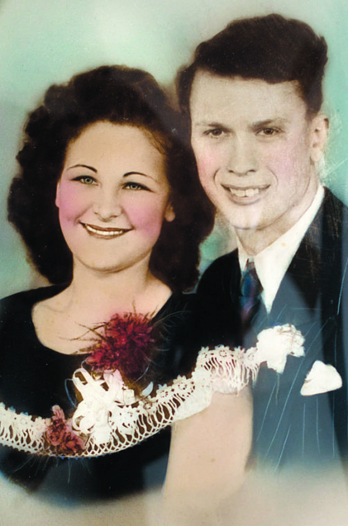 Clayton and Opal Wolfgang are shown here in their wedding photo from 1947. Courtesy photo