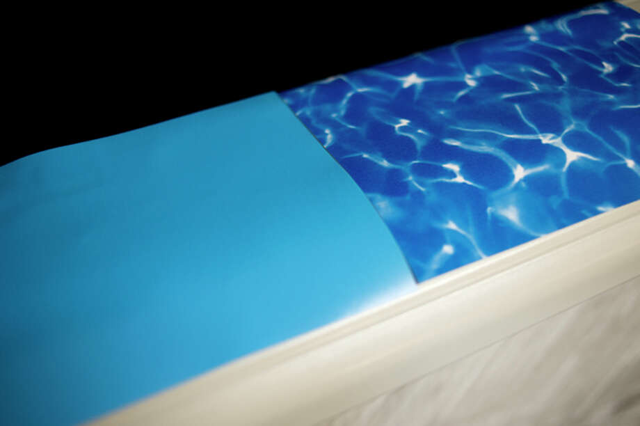 NEIL BLAKE | nblake@mdn.net Examples of the various pool liners that can be used in above ground pools are at Midland Pool and Recreation in Midland. Above ground pools can be as small as 18 feet across or up to 34 feet across.