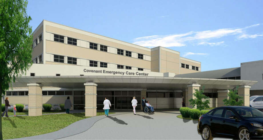 A rendering of the front of the expanded Covenant Emergency Care Center.