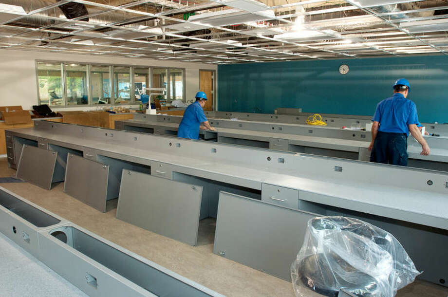 Photo providedEmployees work in a classroom at Delta's newly renovated Health Professions Building. The classroom is a key component of the retooled facility. Nearly a third of Delta's student population are enrolled in health care careers.