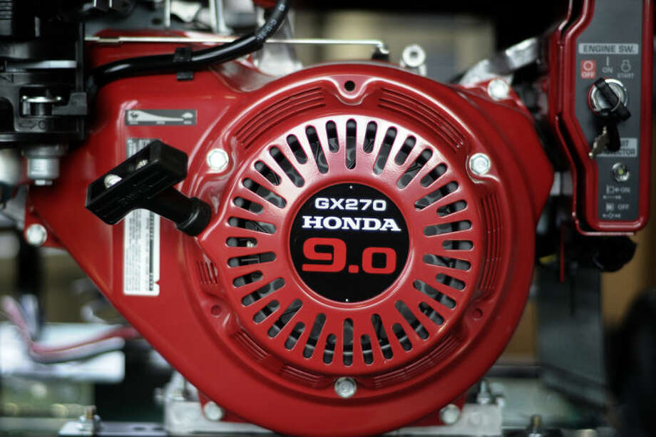 LIBBY MARCH | for the Daily NewsA Honda engine on a Gillette GEN-PRO generator is displayed Friday at Great Lakes Emergency Power/Coleman Electric in Coleman. Photo: Libby March