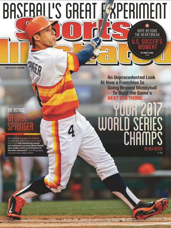 For fans of either baseball or clairvoyance, Fanatics is selling George Springer-signed copies of the 2014 Sports Illustrated cover that predicted the Astros would win the 2017 World Series. (Buy it here.) Photo: Sports Illustrated