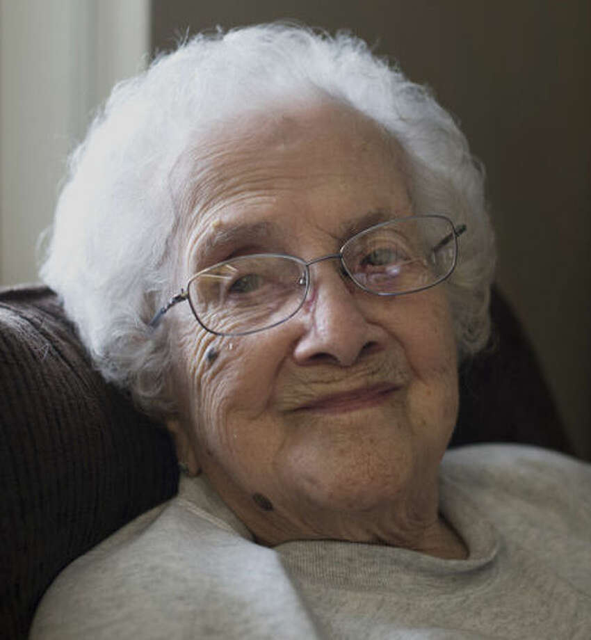 Lillian Walsh is 105, and said she's always ready for another day. Photo: Neil Blake/Midland  Daily News