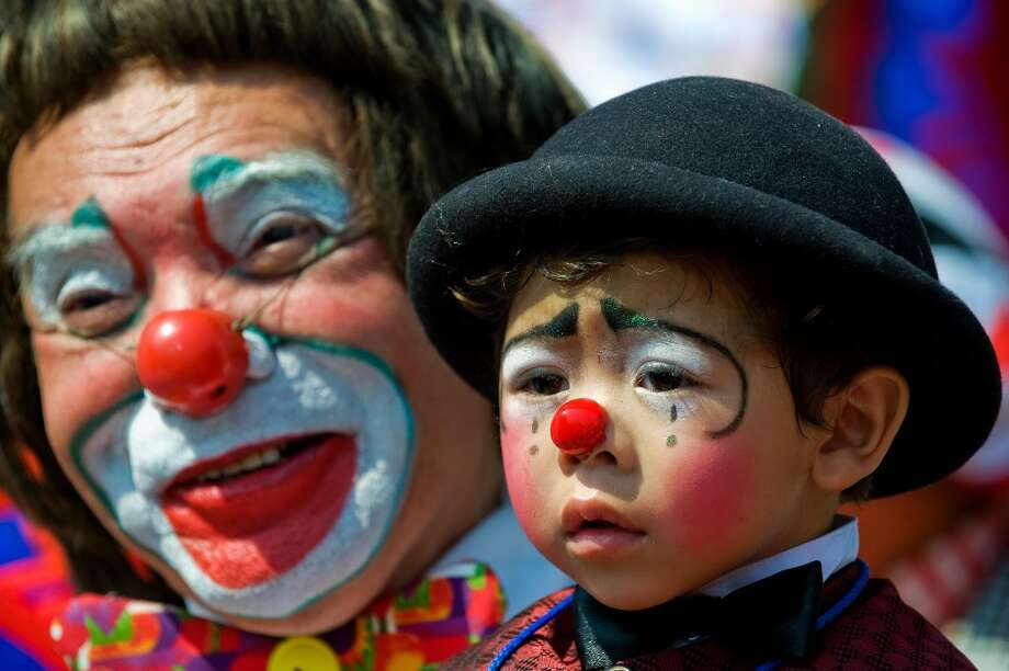 Click through the slideshow to see 20 of the best clowns from pop culture, who are no longer welcome at Halloween due to the shenanigans of a few miscreants.  Photo: RONALDO SCHEMIDT, AFP/Getty Images