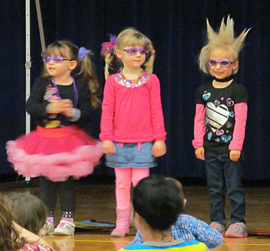 """Photos providedStudents from Jen Yenkel's Great Start Readiness Preschool class at Gladwin Elementary School are dressed the part for """"Rock 'n' Roll into Reading."""""""