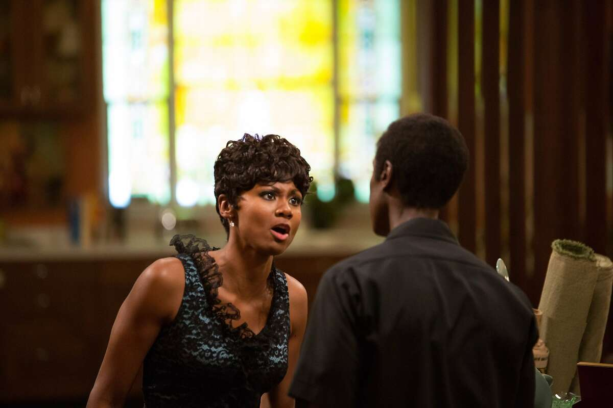 """L-R: Emayatzy Corinealdi as Frances Taylor and Don Cheadle as Miles Davisin """"Miles Ahead,"""" opening at Bay Area theaters on Friday, April 8. Photo by Brian Douglas. Courtesy of Sony Pictures Classics."""