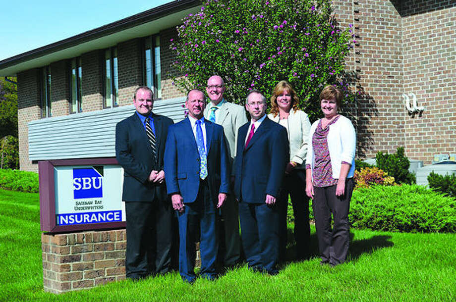 Photo provided SBU staff at the Midland office, from left, Travis Smock, Scott Withrow, Robert Dotson, Joel Raub, Tammy Denno, Diane Crumbaugh.