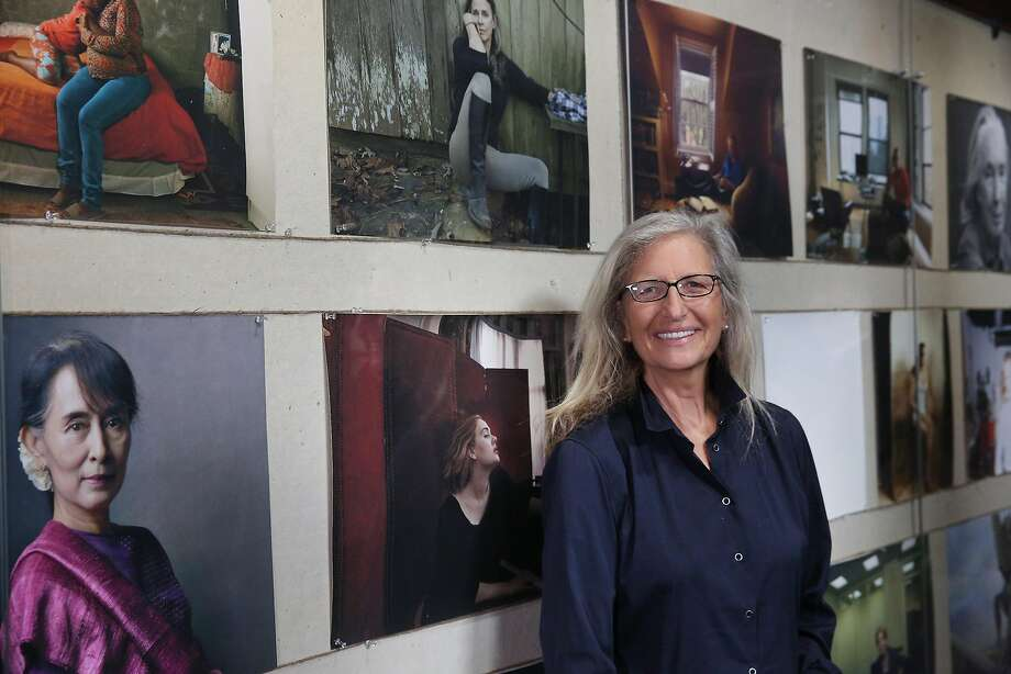 "Annie Leibovitz at the world premiere of ""Women: New Portraits,"" commissioned by the bank UBS. Photo: Peter Macdiarmid, Photo By�Peter Macdiarmid���UBS"
