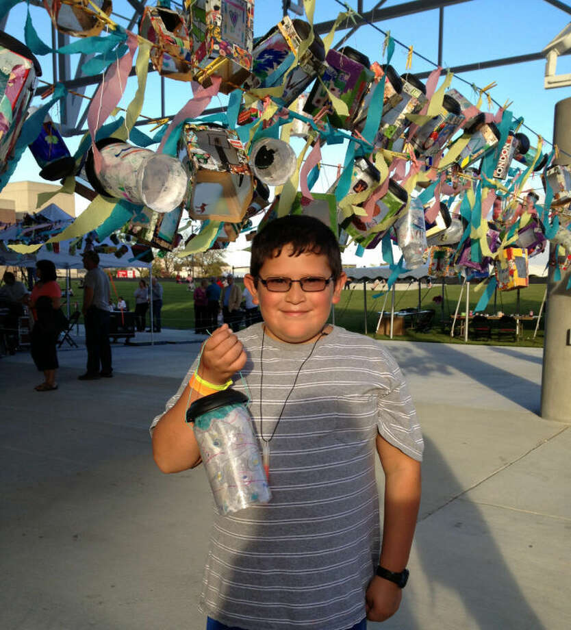 Rachel Hopkins | for the Daily NewsMario Estrada, a fifth grade student at Arrowwood Elementary School in Saginaw, was proud of his art project he found hanging on display.