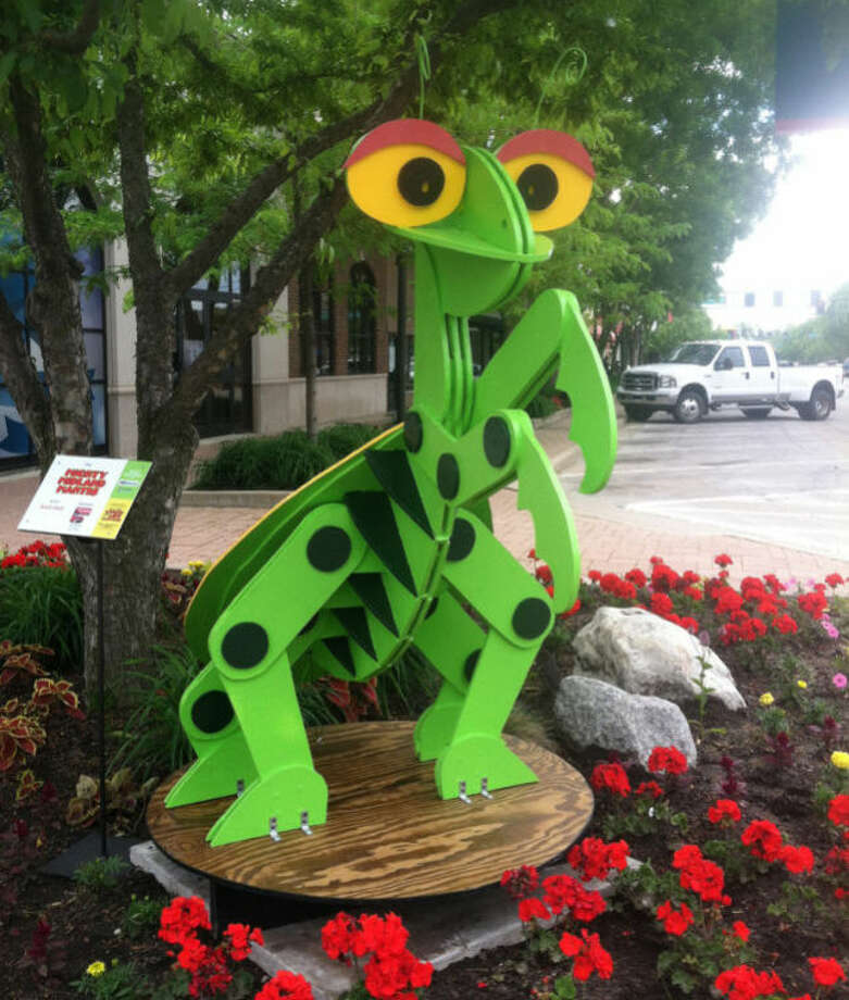 "Photo providedChewy the giant praying mantis will be for sale during the ""Larger Than Life"" sculpture auction on Thursday at the H Hotel at 7 p.m."