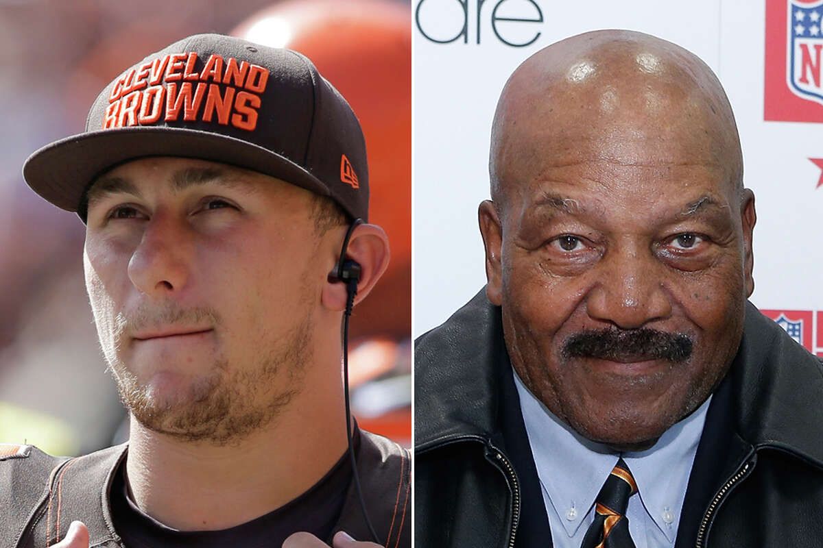 In what appears to a be a well-done troll job, fans voted first-round bust Johnny Manziel (left) over NFL legend Jim Brown in a bracket contest of the best Cleveland Browns players. Click through the gallery to relive Manziel's highs and lows in football.