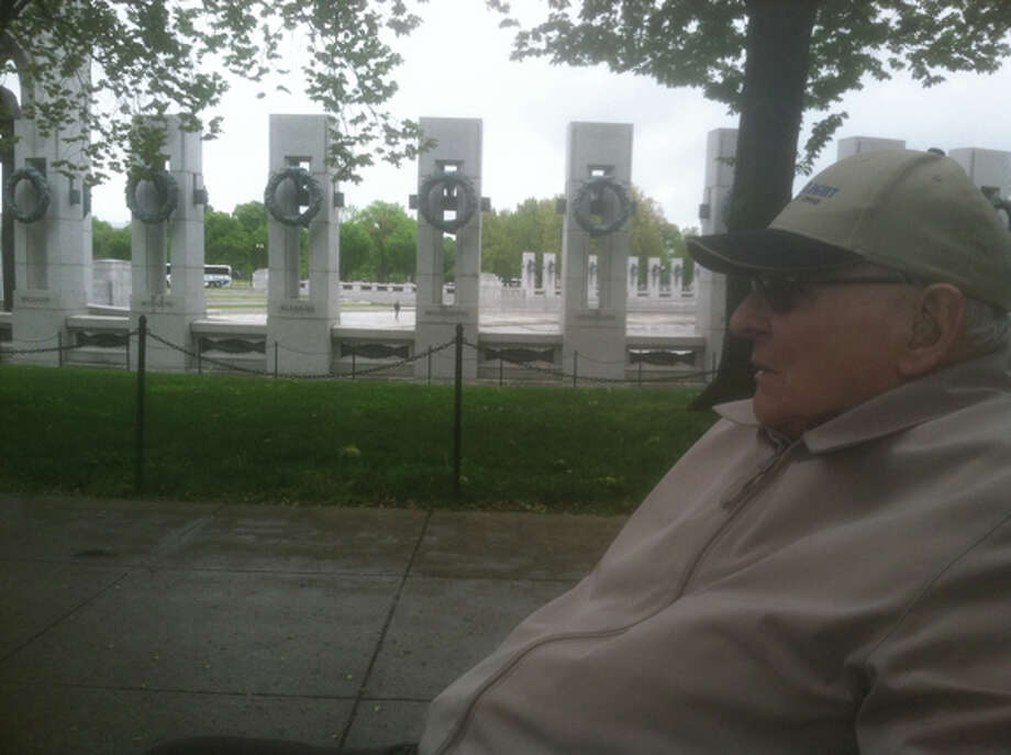 Photo providedAlvin Sprague is pictured in front of The U.S. National World War II Memorial in Washington, D.C.