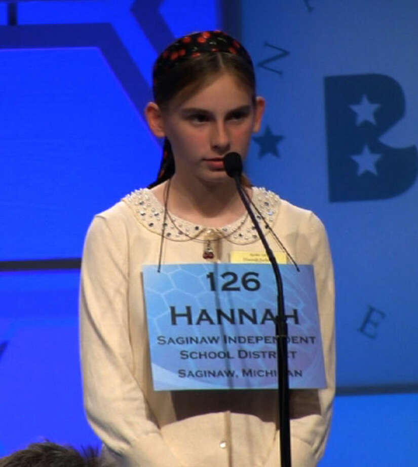 Competing at the Scripps bee.