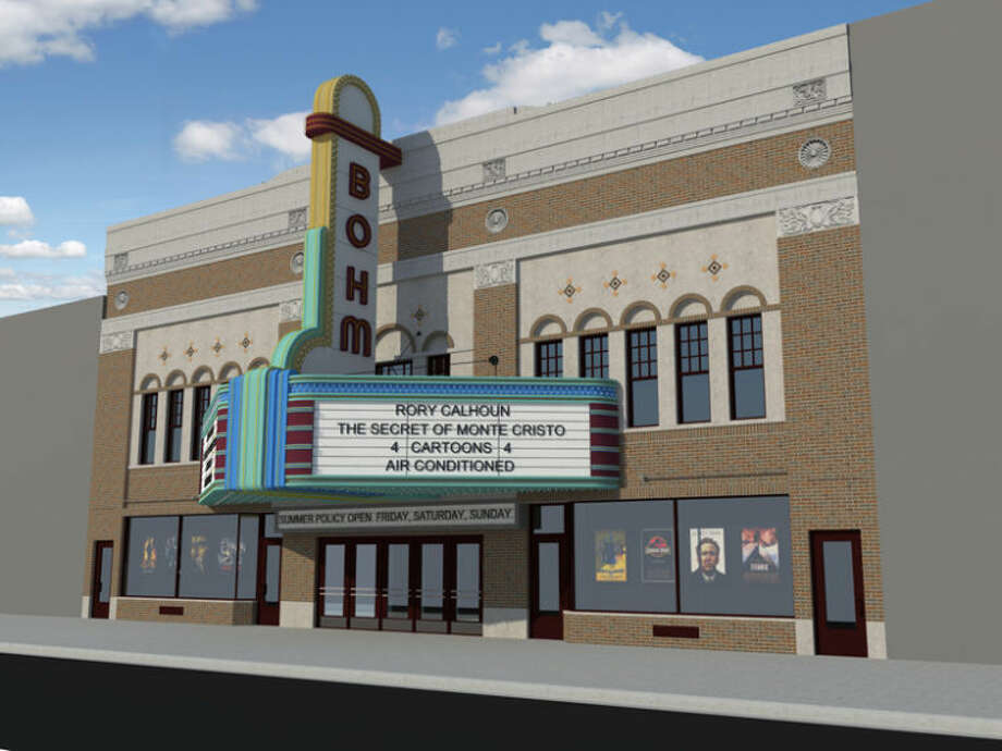 An artist's rendering of the Bohm Theatre marquee is attached. Artwork courtesy of Mitchell and Mouat, architects