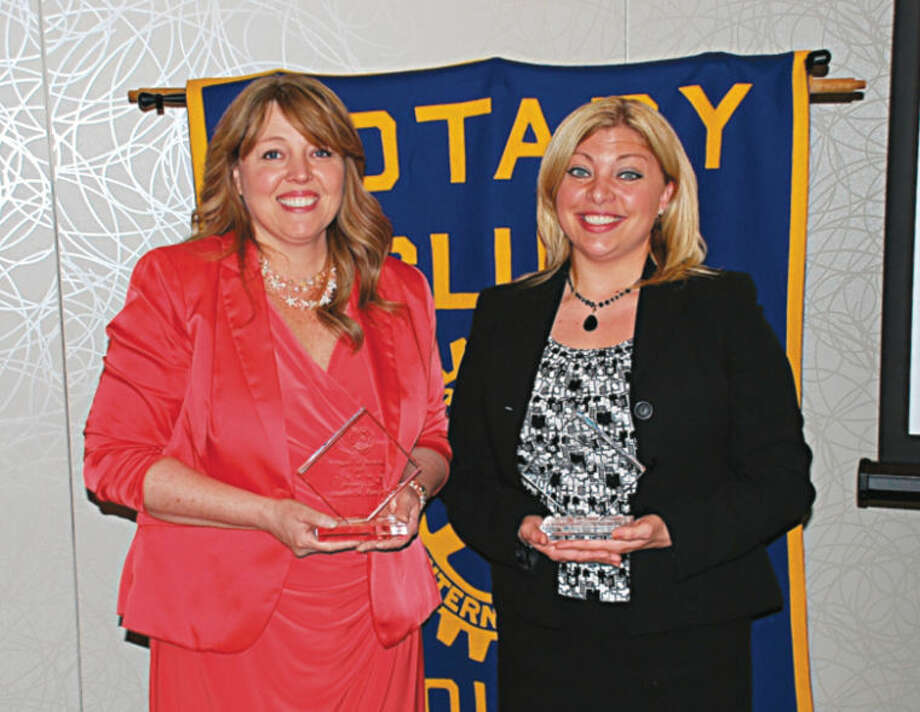 Photo providedPictured are Kathy Saldana (left), accepting the award for Christie Kanitz, and Jennifer Parks, right.