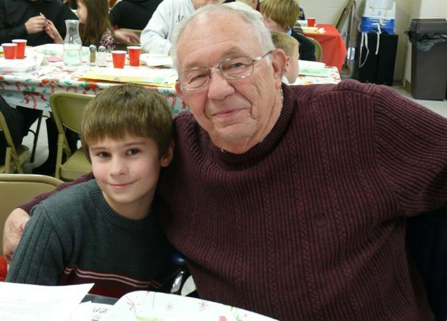 Joe Cummings and his grandfather, Len Lehman.