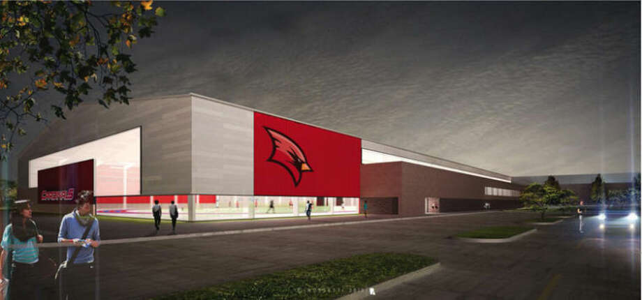A rendering of the Saginaw Valley State University's Ryder Center expansion.