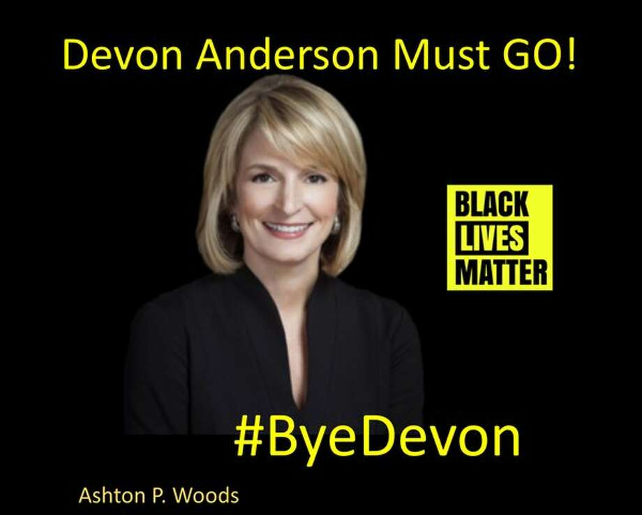 Twitter meme created by Ashton P. Woods in March 2016 in the effort to unseat Harris County District Attorney Devon Anderson following top prosecutor primary defeats in Chicago and Cleveland. Photo: Ashton P. Woods